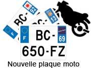 plaque d 39 immatriculation moto plexiglass en vente sur. Black Bedroom Furniture Sets. Home Design Ideas