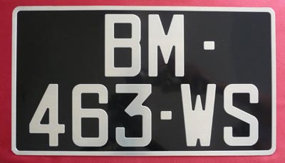 plaque d 39 immatriculation noire auto collection 320x180 mm. Black Bedroom Furniture Sets. Home Design Ideas