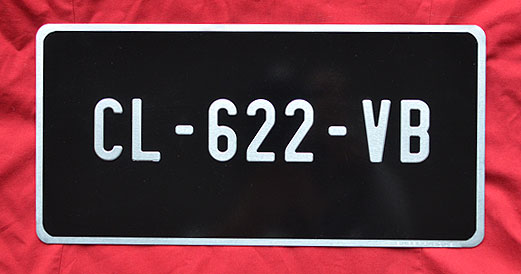 plaque d 39 immatriculation noire collection format us 30x15 cm. Black Bedroom Furniture Sets. Home Design Ideas