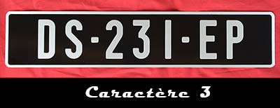plaque immatriculation noire collection auto 52x11 cm. Black Bedroom Furniture Sets. Home Design Ideas