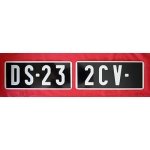 Plaque d'immatriculation collection 2cv DS 23 Citroên