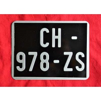 plaque immatriculation noire moto cyclo 170x130. Black Bedroom Furniture Sets. Home Design Ideas