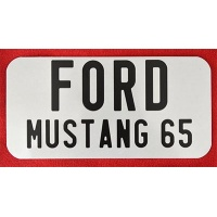 cache plaque US Ford Mustang