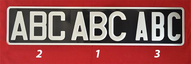 plaque d 39 immatriculation carr e blanche 275 x 200 aluminium. Black Bedroom Furniture Sets. Home Design Ideas