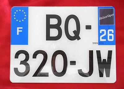 plaques d 39 immatriculation siv avant et arri re 520 275. Black Bedroom Furniture Sets. Home Design Ideas