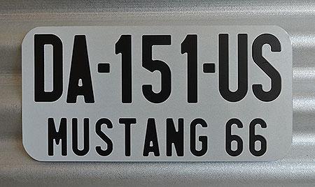 plaque d 39 immatriculation am ricaine personnalis e en aluminium. Black Bedroom Furniture Sets. Home Design Ideas