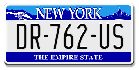plaque immatriculation am ricaine new york the empire state. Black Bedroom Furniture Sets. Home Design Ideas