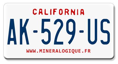 plaque d 39 immatriculation am ricaine californie 1987 1993. Black Bedroom Furniture Sets. Home Design Ideas