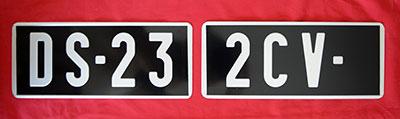 plaque immatriculation noire auto 2x 255x105. Black Bedroom Furniture Sets. Home Design Ideas