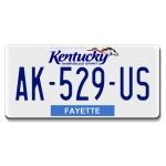 plaque-immatriculation-americaine-kentucky