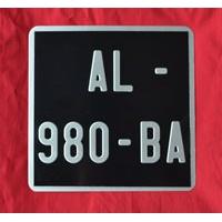 plaque immatriculation noire vespa lambretta 170 x 170. Black Bedroom Furniture Sets. Home Design Ideas